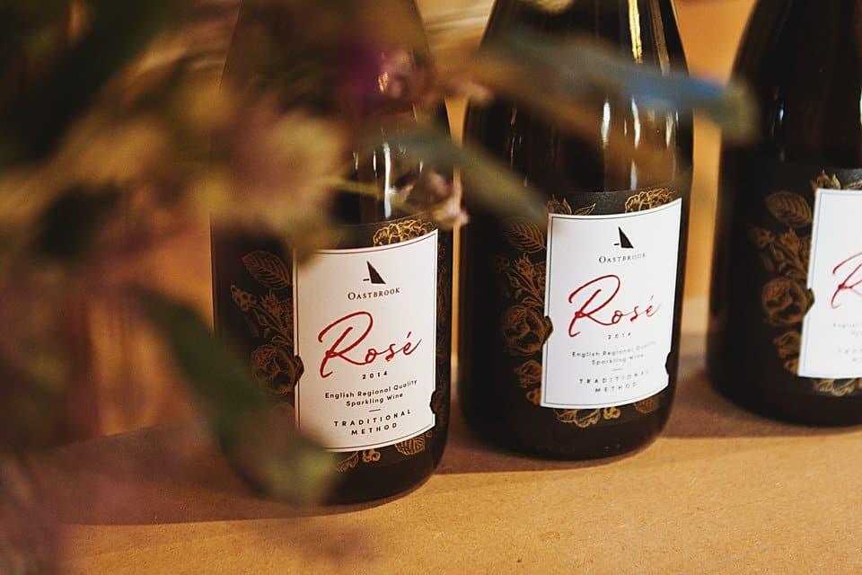 Bottles of Oastbrook Estate English sparkling Ros