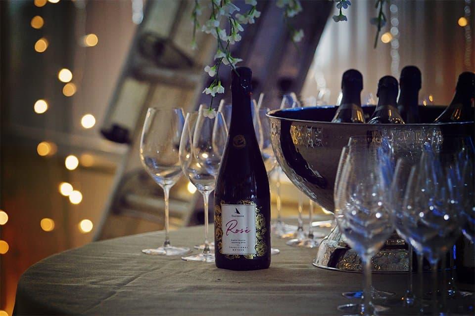 Celebrating with Bottles of Oastbrook Sparkling Ros