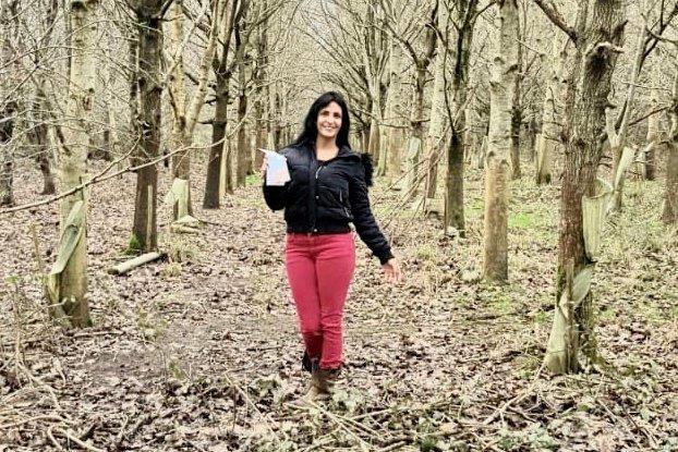 Oastbrook Estate's America enjoying the woods around the vineyard