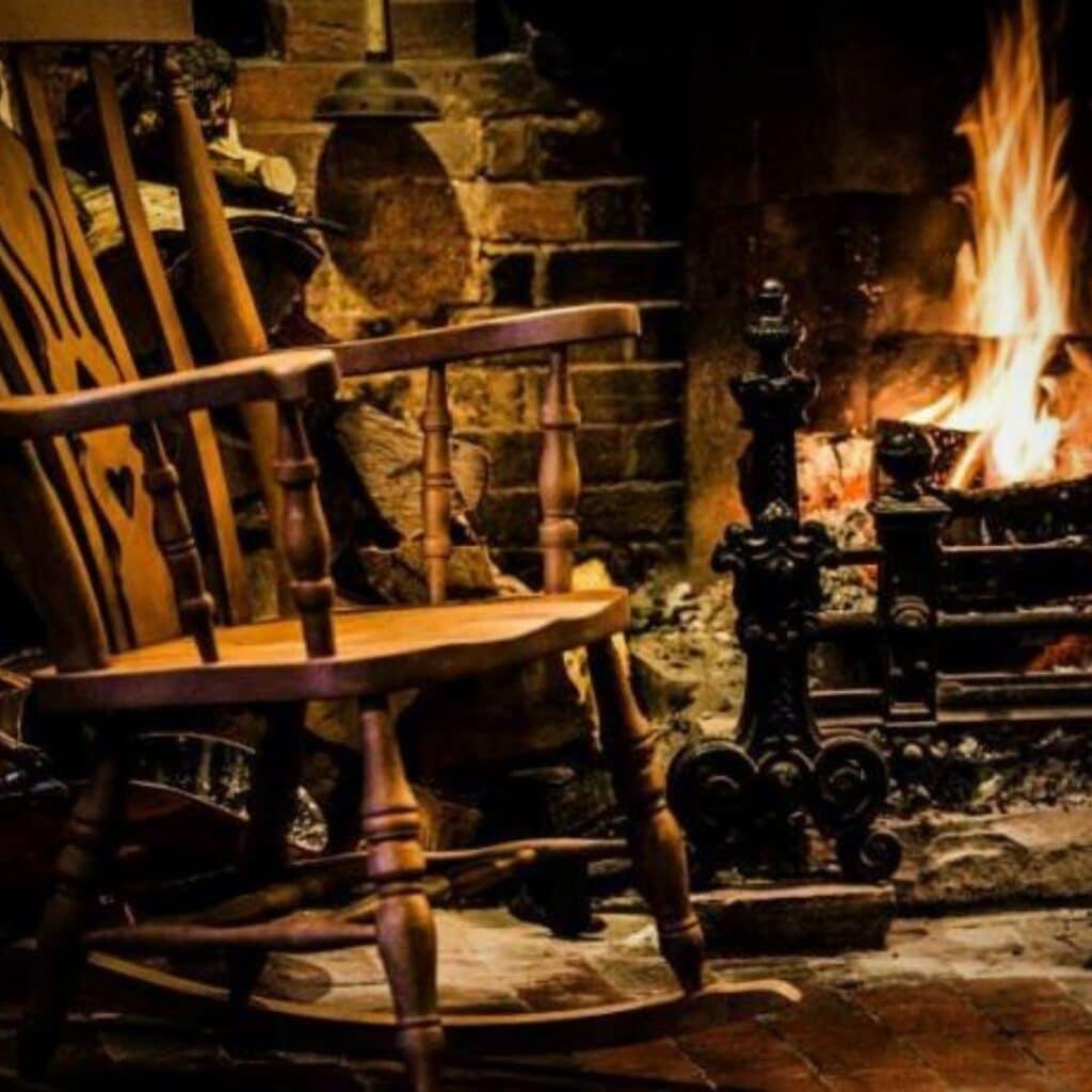 The White Dog Inn Rocking Chair